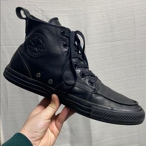 RARE Converse Black Leather all star sneakers